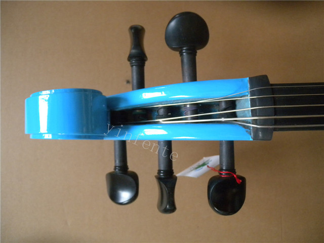 one blue  5 string 4/4 New Electric Cello Silent Powerful Sound Ebony Part Top Grade  i can make anycolor  for you