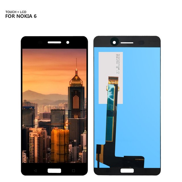 For Nokia 6 N6 LCD Display Digitizer Touch Panel Screen Assembly For TA-1021 TA-1033 TA-1025 LCD + Free Tools