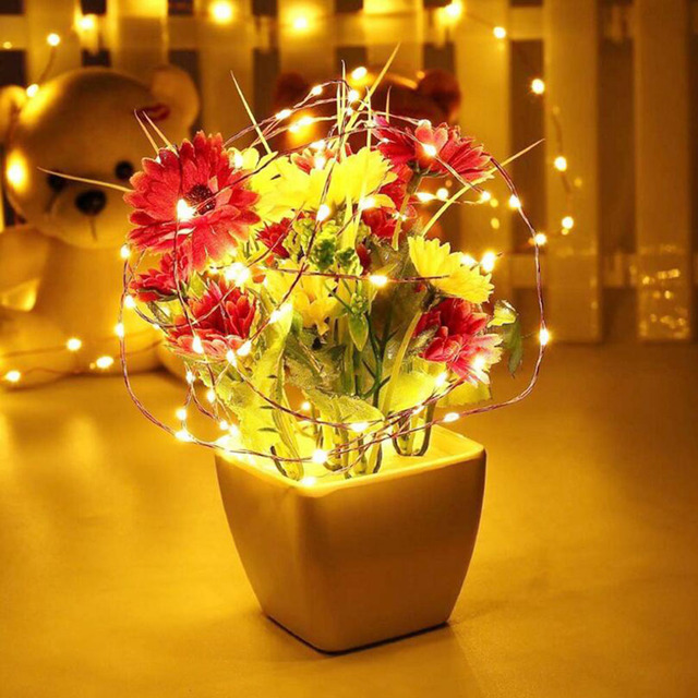 20 50 100 LED String Light Battery/USB Power for Xmas Garland Party Wedding Christmas Tree Fairy Lights Decoration