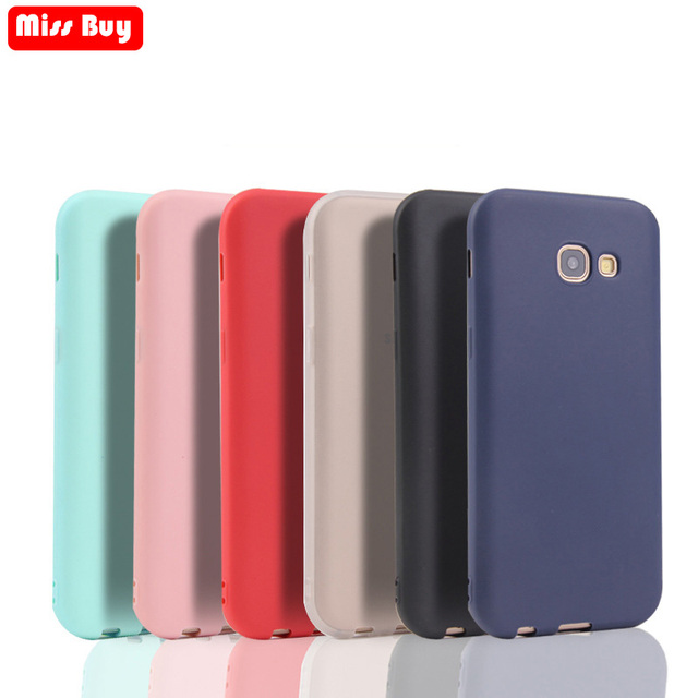 Missbuy Candy Colors Silicon Phone Case For Samsung galaxy A3 A5 A7 2017 2018 Ultra Thin Matte Soft TPU Cover Fundas Shell Coque