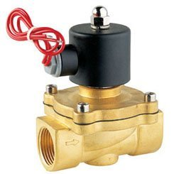 Free Shipping High Quality 2PCS In Lot 12V Voltage Fluid Control 2 Way Brass Solenoid Valve Oil Gas Water G1-1/2''