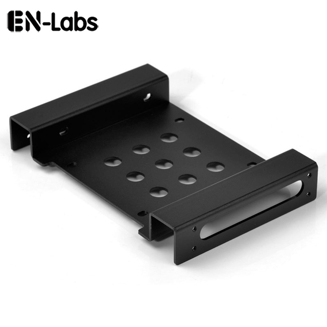 "En-Labs Aluminum 2.5 "" & 3.5 "" SATA HDD SSD to 5.25 Bracket Adapter 2.5 to 5.25 or 3.5 to 5.25 Hard Drive Bay Converter Mounting"