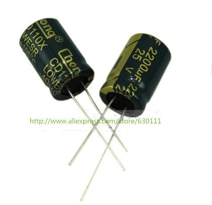 2200uF 25V 105C Radial Electrolytic Capacitor 10*20MM