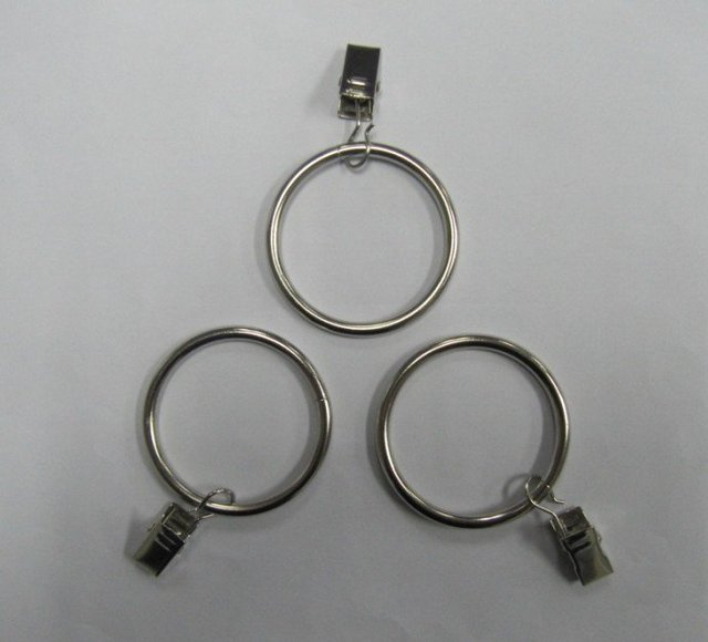 hot! steel clip curtain rings for7/8,1,1-1/8,1-1/4,1-3/8 inch dia. rods by plating nickel 50pcs/lot factory  price