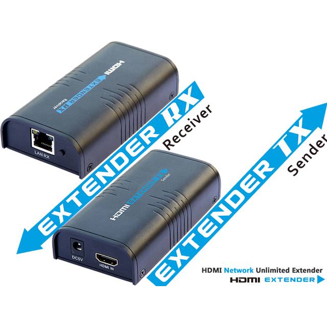 LKV373A HDMI extender V3.0 TCP/IP compliant up to 120M supports 1 sender to N receivers