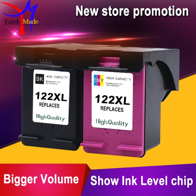 2PK remanufactured for HP 122XL ink cartridge compatible for HP 2050 2050s 3050A 3052A 3054 printer
