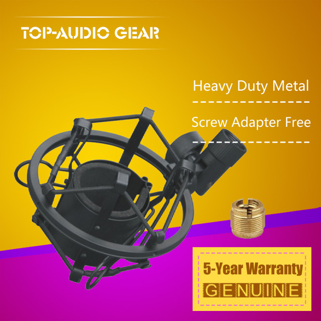 Quality Microphone Holder Shockproof Microfone Stand Spider For MXL Aria R144 441 V76t Microfono Clasp Suspension Shock Mount