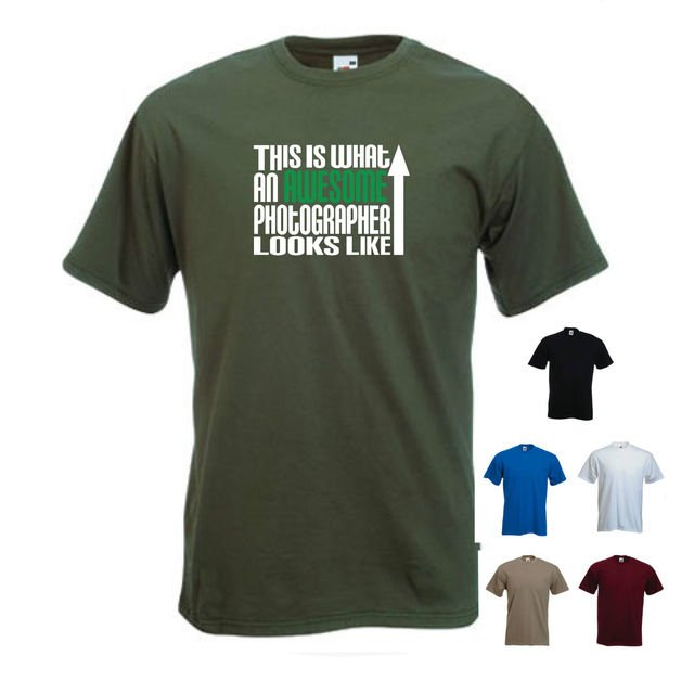 'This is what an Awesome Photographer looks like' Camera Fan DLSR Funny T-shirt New T Shirts Funny Tops Tee Tops Tshirt Homme