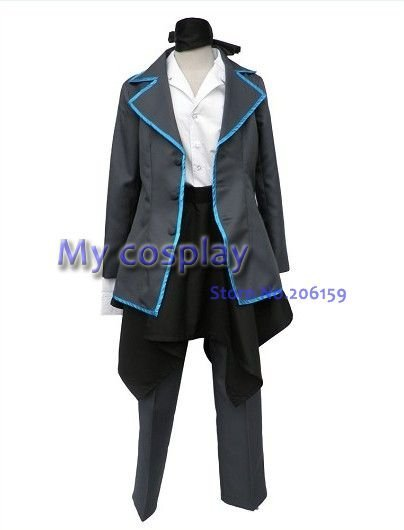 Vocaloid Cosplay Kaito Men's Cosplay Costumes Halloween Costumes Party Dress Men's Coat-- Freeshipping