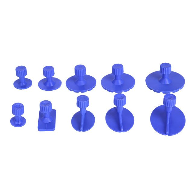 PDR Removal Tool Mechanics Tool Car Body Universal Car Care Supplies Extractor Suction Cup 10PCS Plastic Car Panel Repair Kit