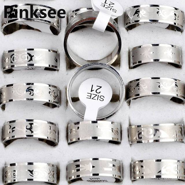 Mix Lot 36pcs stainless steel rings for men Jewelry Women Band wedding rings Wholesale Free Shipping