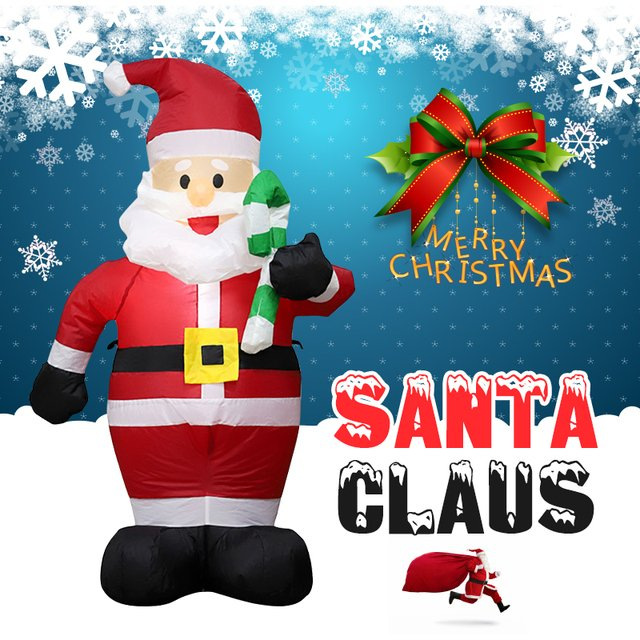 Airblown Santa Claus 120cm Christmas Cute Inflatable Statue Supper Market 2019 Giant Inflatables Santa Claus Drop Shipping