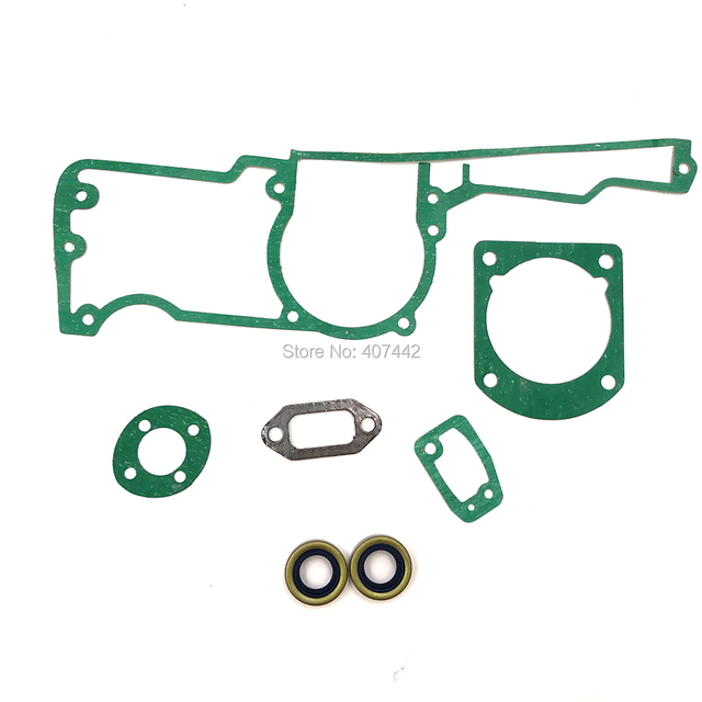Chainsaw Oil Seal Gasket Set of Cylinder Carburetor Muffler for Husq 61 66 162 266 268 272 Replace