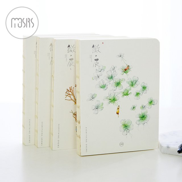 MOUSRS A6 Fresh Art Series Blank Page Notepad Diary Notebook Sketchbook 1PCS