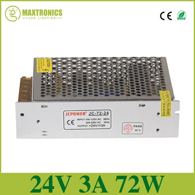 DC24V 3A Universal Regulated Switching Power Supply led power for led lamp led strip lights