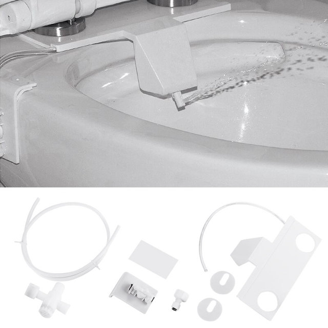 Toilet Sanitary Device Adsorption Type Bathroom Hygienic Toilet Flushing Sanitary Device Rinse Toilet Flushing Convenient