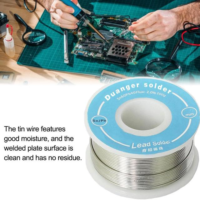 0.6 0.8 1.0 Mm Solder Wire With 2% 63/37 Tin Lead Tin Wire Solder Rosin Core Solder Flux Soldering Welding