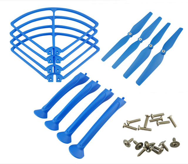 SYMA X8C X8G X8W X8HW X8HC X8HG quadrocopter remote control aircraft landing gear parts blue protective circle fan accessories
