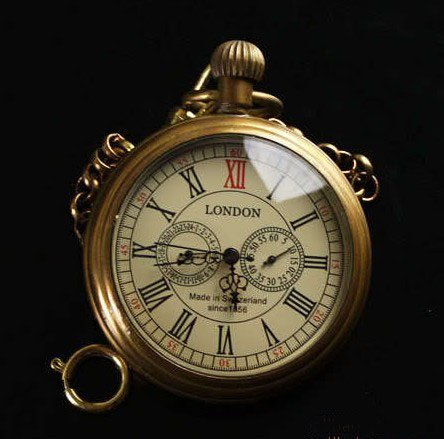 (8041-5) 6 pcs/lot Steampunk vintage Mens Mechanical Pocket Watch Pure Copper , Free shipping