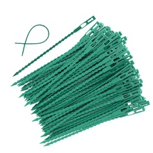 50/100pcs Adjustable Plastic Plant Cable Ties Reusable Cable Ties for Garden Tree Climbing Support Plant Vine Tomato Stem Clip