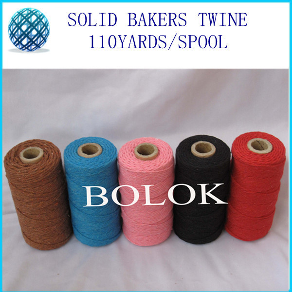 plain cotton twine 110yards/spool 2mm 12 ply 8pcs/lot solid divine twine by free shipping