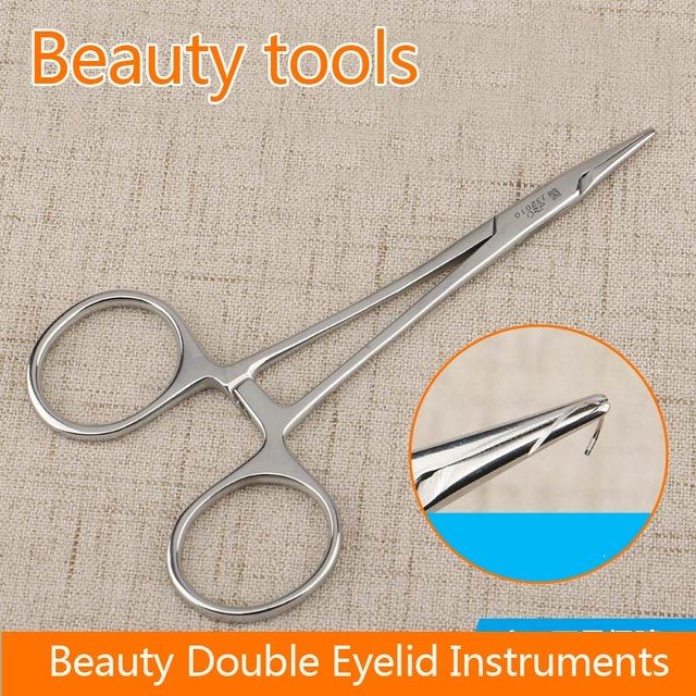 Admiralty stainless steel needle holder embeded double eyelid surgical tools pin clamp 12.5cm cosmetic plastic equipment