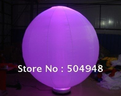 inflatbale lighting ball for party decoration.