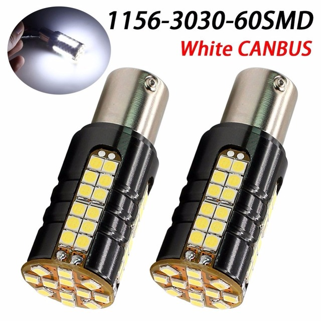 2018 Newest XenonWhite 1156 P21W BA15S Canbus Error Code Free LED Blink Bulbs For Car Turn Signal Light, Parking Light,marker
