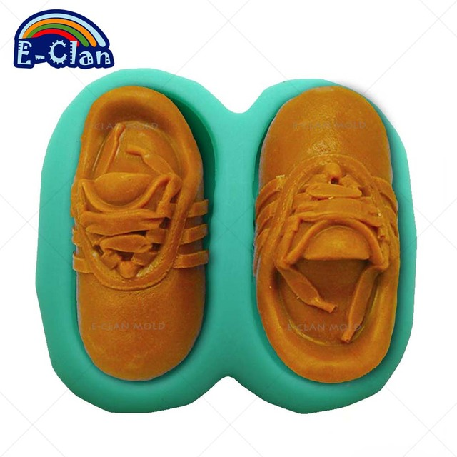 Sports Shoes Silicone Molds For Candle Chocolate Mould Soap Mold For Concrete Aroma Plaster Crafts S0036XZ