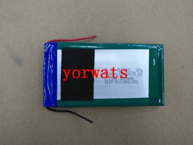 New Hot A Rechargeable Li-ion Cell  post 3.7V polymer lithium battery 654795*2 direct selling