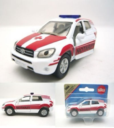 4 siku TOYOTA rav4 ambulance mini exquisite alloy car model