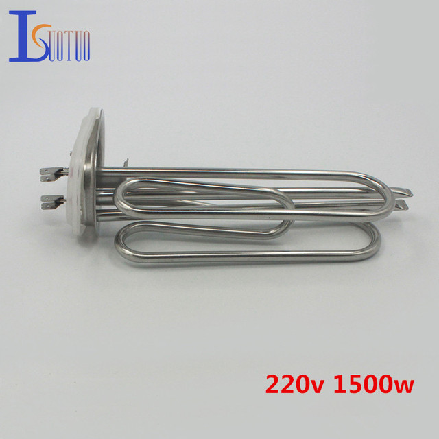 Isuotuo 70mm*100mm cap 220v 1500w Haier electric water heater tube heating element boiler stainless steel parts