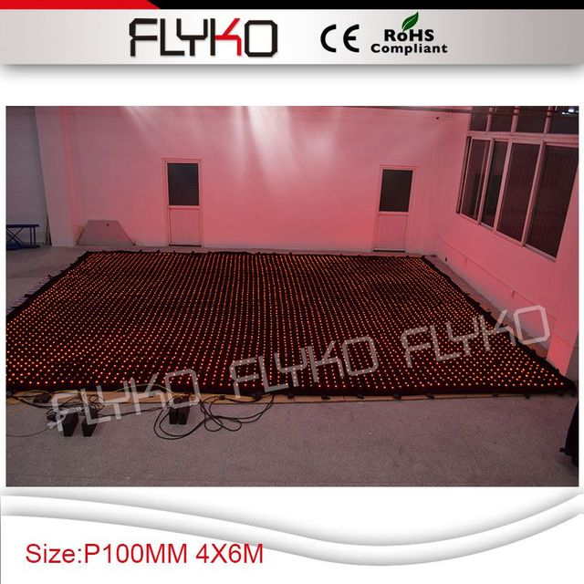 Free shipping Pixel pitch 10cm  led video screen