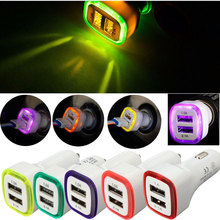 2.1A 1.0A 5W LED Dual USB 2 Ports Charging Car Socket For Smart Phone charger