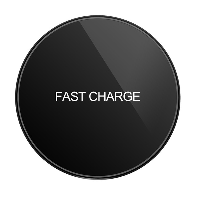 C62 Glass Qi Wireless Charger For iPhone X 8 Plus Desktop Fast Wireless Charging Pad For Samsung Galaxy Note 8 S9 S8 S7 S6 Edge