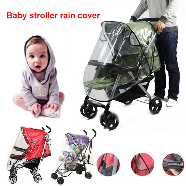 Baby Universal Waterproof Stroller Rain Cover Wind Dust Shield Pushchair Cover^