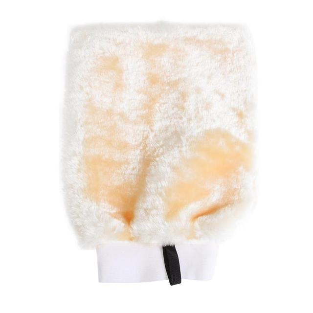 Durable Double-sided Faux Wool Fabric Car Washing Glove Thickened Cleaning Waxing Mitt Car Wash Maintenance Tools