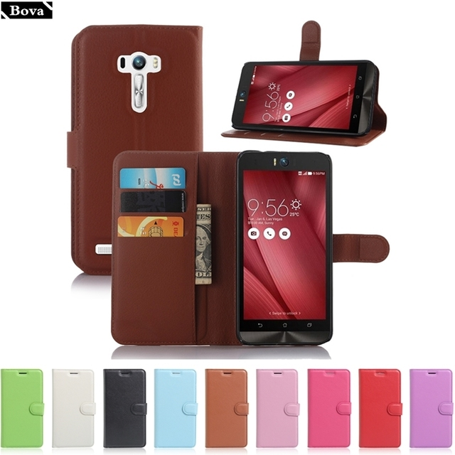 for ASUS Zenfone Selfie ZD551KL Case Leather Cover Card Holder Phone Cases for ASUS Zenfone Selfie ZD551KL Protective Case