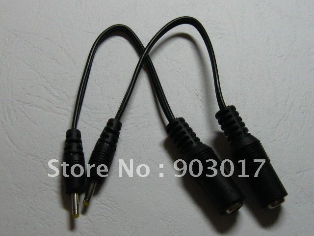 DC Power Jack 5.5x2.1mm Female to 2.5x0.7mm Male Plug Cable 18cm 0.18m 80 pcs per lot hot sale