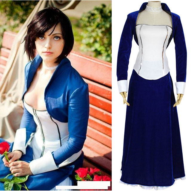 Bioshock 3: infinite Elizabeth cosplay costume Halloween costumes for women clothes Anime Game Fancy dress