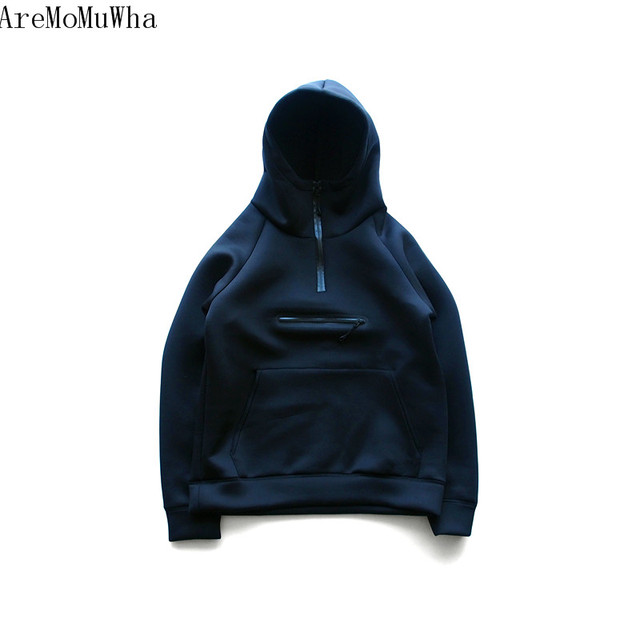 AreMoMuWha Autumn and winter new  Sweatshirts Space cotton light and warm hooded Casual Solid color fashion slim Hoodies QX134