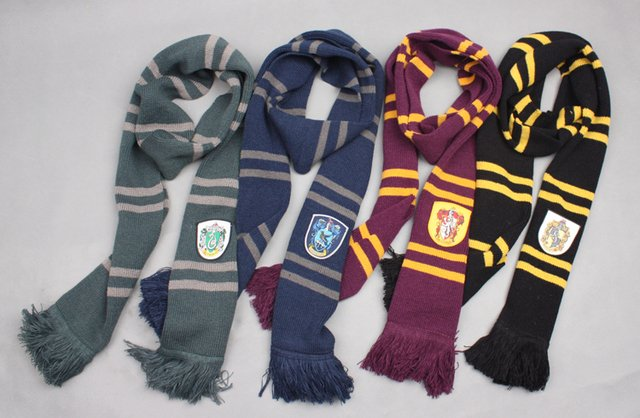 Gift Fashion Harry Potter scarves Pendant scarves Apparel Accessories Unisex scarf 4 styles Free shipping
