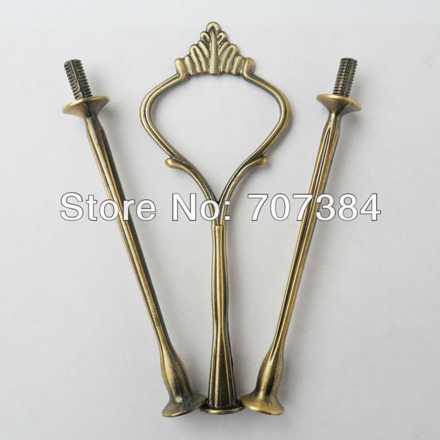 Hot on the new collection bronze small crown 3-tier  cake stand handles / cake stand fittings/kitchen fittings