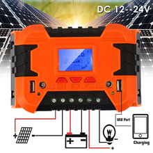 10A 20A Solar Controller LCD Function Dual USB Solar Panel Regulator Durable Power Control Solar cells Panels Battery Charge