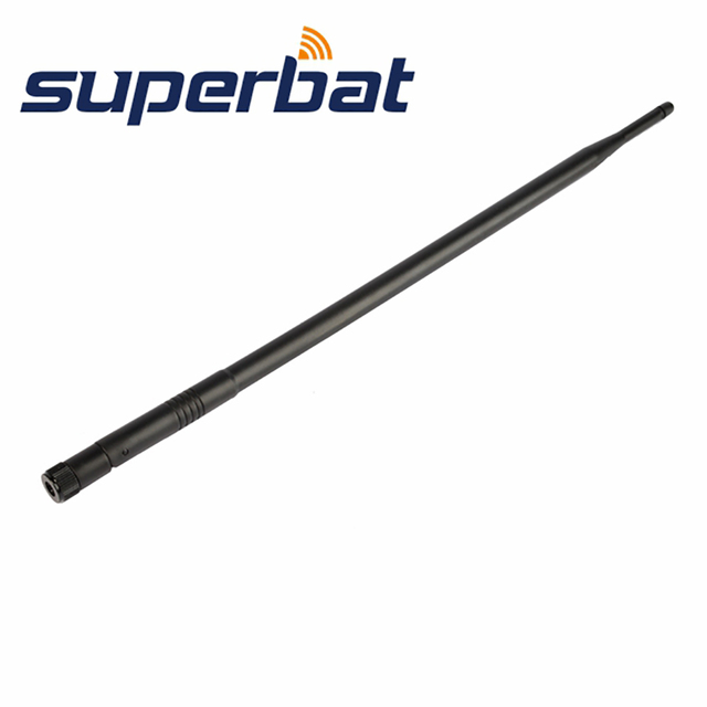Superbat 3pcs 2.4GHz 12dBi Omni-Directional Rubber Duck Aerial Booster WiFi Antenna RP-SMA Plug for IEEE 802.11b Wireless LANs