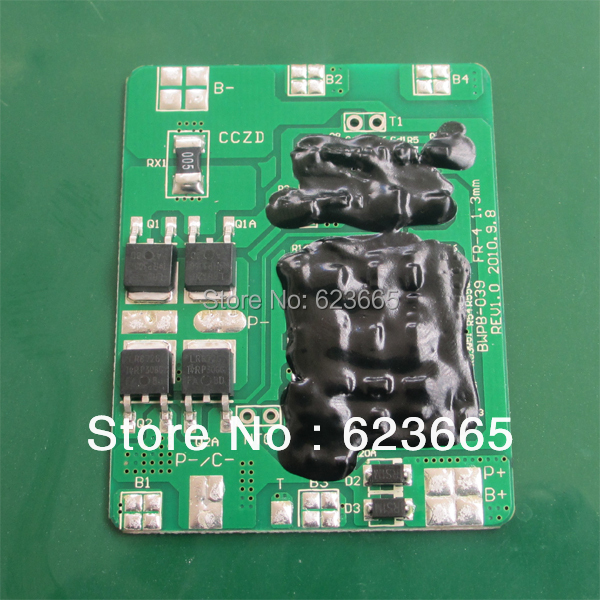 Free Shipping 4S 12.8V LiFePO4 battery BMS 12V 10A BMS Used for lifepo4 3.2V 18650 4S battery Pack