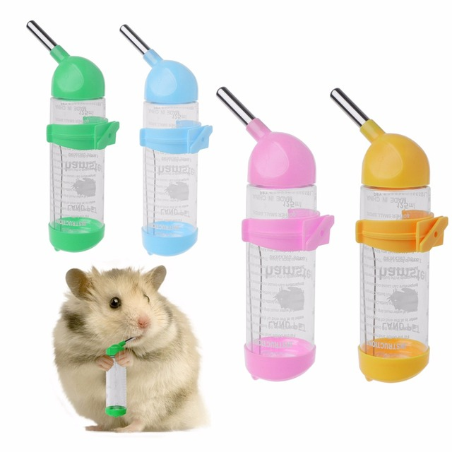 125ml Pet Small Dog Cat Bird Hamster Water Feeding Hanging Bottle Auto Feeder Rabbit Water Dispenser Small Animal Supplies C42