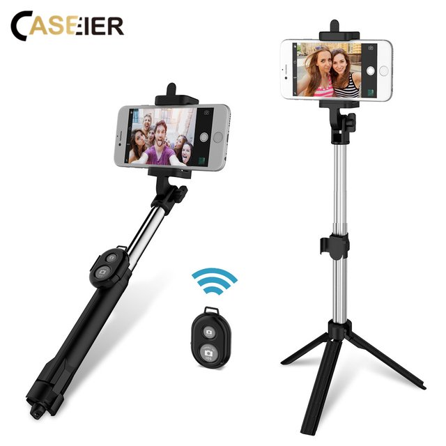 CASEIER Bluetooth Selfie Tripod Stick Mobile Phone Holder For iPhone 11 pro max Xs For Samsung S20 Huawei Xiaomi Remote Handheld