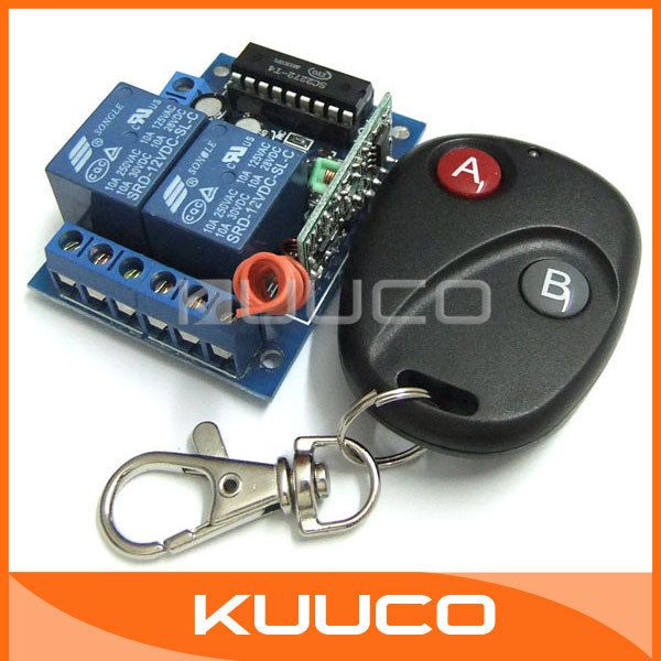 5 PCS/LOT, 2 Way Controller Wireless Remote Control Switch Board Portable Remote Control 12V 2 Channel Self-Locking Type #090172