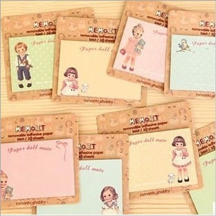 Free ship!48set!cartoon doll fresh and lovely N times stickers / sticky notes / creative paper notes/Memo Pads